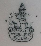 Porzellan von Paul Müller Porzellanfabrik