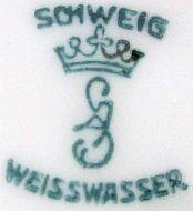 Porzellan von Oberlausitzer Porzellanmanufaktur August Schweig & Co.