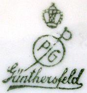 Porzellan von Porzellanfabrik Günthersfeld