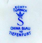 Porzellan von Porzellanfabrik Carl Hans Tuppack