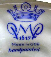 Porzellan von VEB Porzellanmanufaktur Plaue bzw. Porzellanmanufaktur Plaue