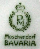 Porzellan von Porzellanfabrik Moschendorf