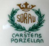 Porzellan von C. & E. Carstens Porzellanfabrik Sorau