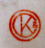 Porzellan von Orben, Knabe & Co. Porzellanfabrik