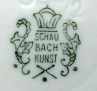 Porzellan von Porzellanfabrik Schaubach-Kunst