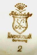 Porzellan von Porzellanfabrik Mühlbach
