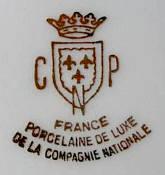 Porzellan von Compagnie Nationale de Porcelaine