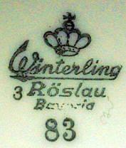 Porzellan von Gebrüder Winterling Porzellanfabrik