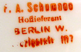 Porzellan von Friedrich Adolph Schumann