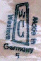 Porzellan von Porzellanfabrik Cortendorf Julius Griesbach