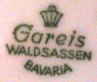 Porzellan von Gareis, Kühnl & Co.