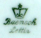 Porzellan von Porzellanfabrik Lettin, vormals Heinrich Baensch