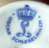 Porzellan von Porzellanfabrik Langewiesen Oscar Schlegelmilch