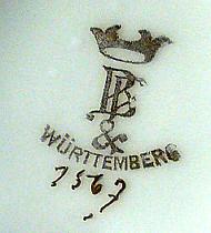 Porzellan von Württembergische Porzellanmanufaktur C. H. Bauer & Pfeiffer