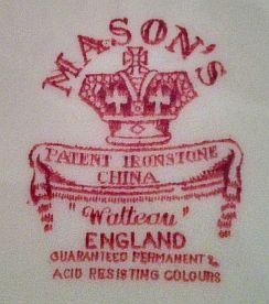 Porzellan von G. M. & C. J. Mason/G. L. Ashworth & Bros