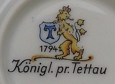 Porzellan von Königl. priv. Porzellanfabrik Tettau