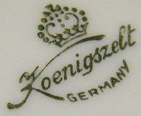 Porzellan von A.-G. Porzellanfabrik Königszelt