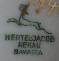 Porzellan von Hertel, Jacob & Co.