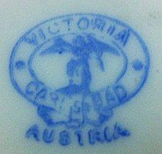 Porzellan von Porzellanfabrik Victoria AG, vorm. Schmidt & Co