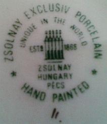 Porzellan von Zsolnay´sche Keramische Fabriken