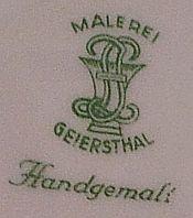 Porzellan von Porzellanmanufaktur Geiersthal Langer & Jahn