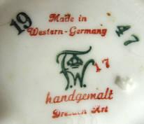 Porzellan von Porzellan-Manufaktur Friedrich Wilhelm Wessel