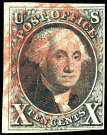us postage stamp - george washington stamp 1847